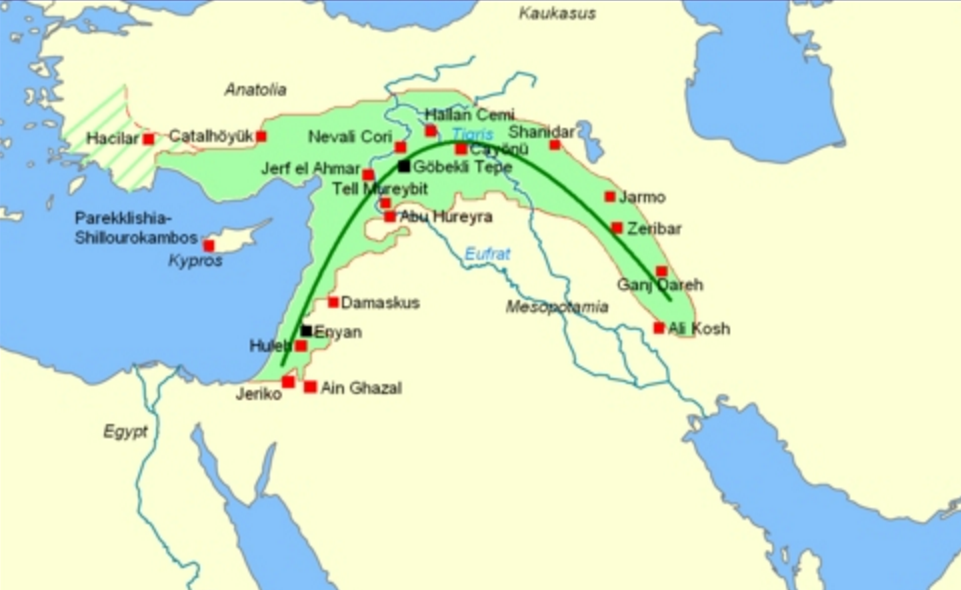 fertile crescent 12 500 9 500 years ago fertility and death cult