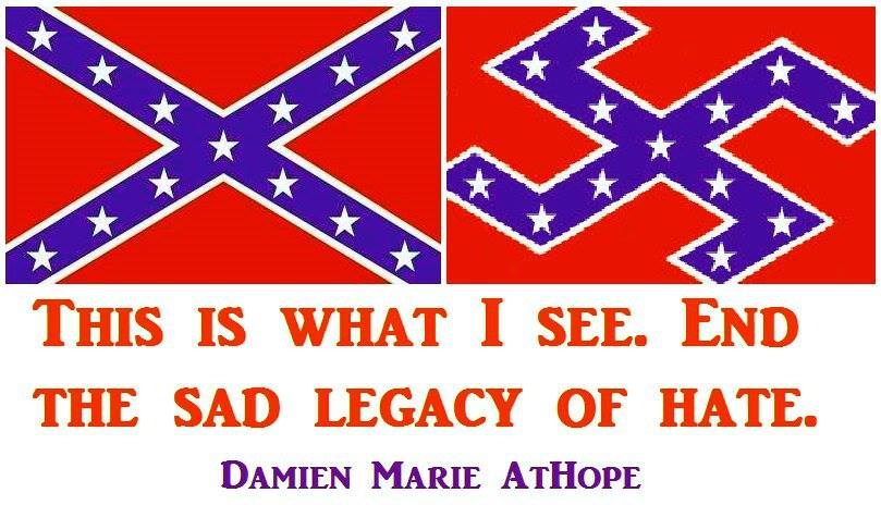 slavery racism religion and the confederate flag damien marie athope