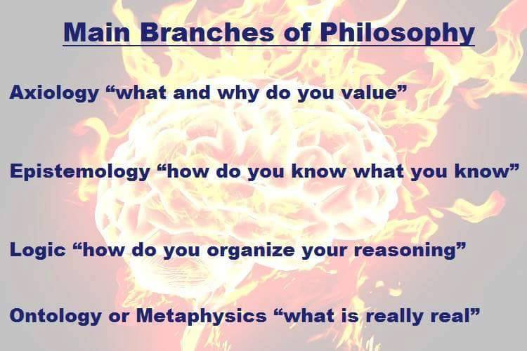 3 branches of philosophy